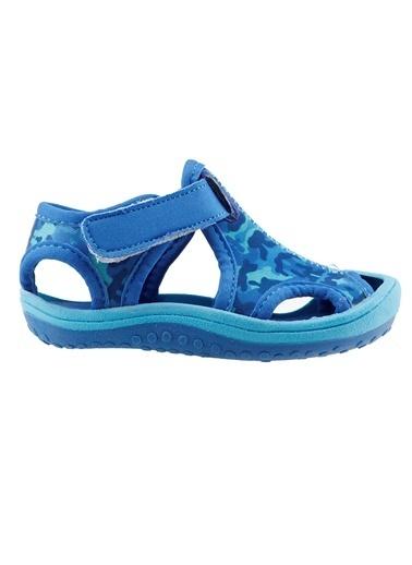 Ayakland Ayakland Kids Kamuflajlı Aqua Erkek Çocuk  Sandalet Panduf Ayakkabı Mavi